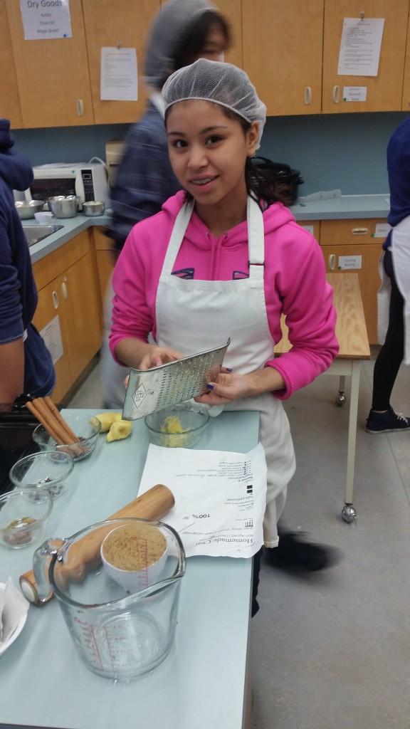 Teara preparing Chai